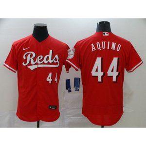Cincinnati Reds Aristides Aquino Red Elite Jersey